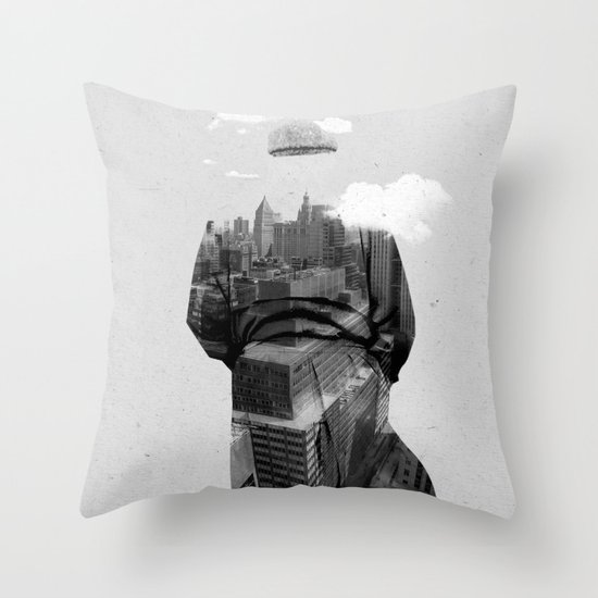Get away from town Throw Pillow