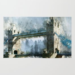 Watercolor Tower Bridge Rug