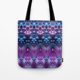 Hippy Blue and Lavender Tote Bag