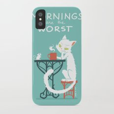 Mornings are the worst iPhone X Slim Case