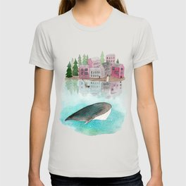 A whale is passing by T-shirt