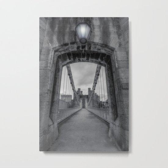 Conwy Suspension Bridge Metal Print