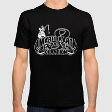 Mario Kart 8 Champion Mens Fitted Tee MEDIUM Black