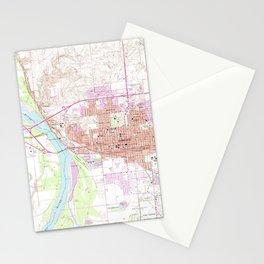 Vintage Map of Bismark North Dakota (1962) Stationery Cards