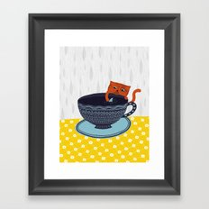 Shark Tea Framed Art Print