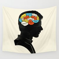 han solo Wall Tapestries featuring Han Phrenology by Wharton