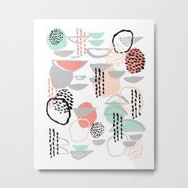 Callie - abstract minimal pastel art print texture ink hipster minimalist office or nursery Metal Print