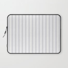Soft Grey Mattress Ticking Wide Striped Pattern - Fall Fashion 2018 Laptop Sleeve
