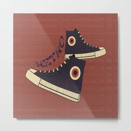 Retro Shoes Metal Print