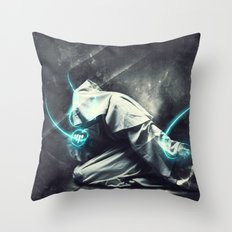 To august realms Throw Pillow