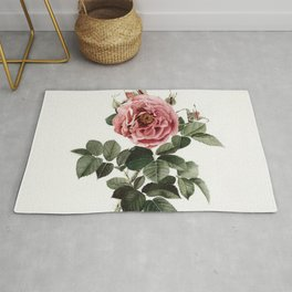 Dusty English Red Rose Rug