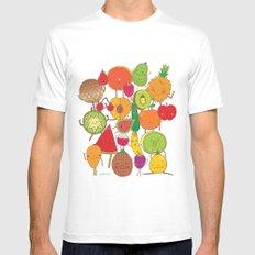 Veggies Fruits MEDIUM Mens Fitted Tee White