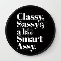 classy Wall Clocks featuring Classy by LuxuryLivingNYC