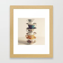 teacups Framed Art Print