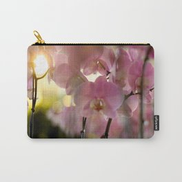 Pink Delicate Orchids Carry-All Pouch