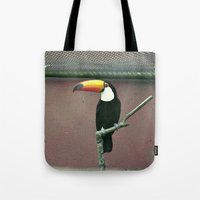 toucan Tote Bags featuring Toucan by Lili Batista