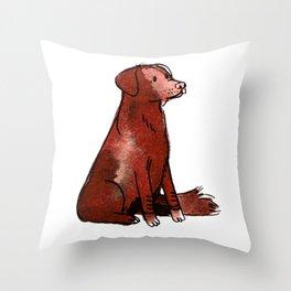 Cocoa - Dog Watercolour Throw Pillow