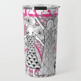 United Against Cancer - Breast Cancer Awareness - Zentangle Women Travel Mug