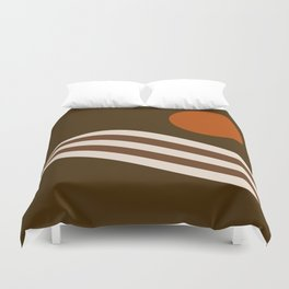 Swell - Cocoa Stripes Duvet Cover