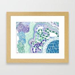 Rhapsody in cool colours  Framed Art Print