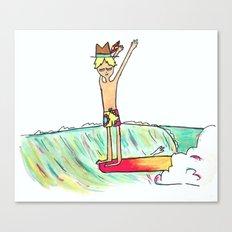 hang 10 surf dude Canvas Print
