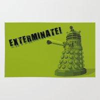 dalek Area & Throw Rugs featuring Dalek by Digital Arts & Crafts by eXistenZ