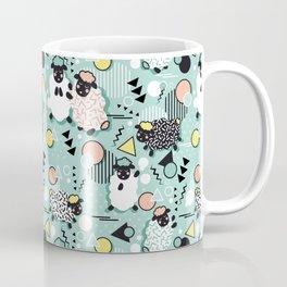 Mééé Memphis sheep // mint background Coffee Mug