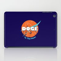 doge iPad Cases featuring Doge Nasa Variant (To The Moon!) by Tabner's