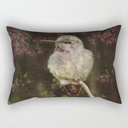 Anna's Hummingbird - Backyard Birds Rectangular Pillow
