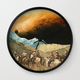 Riders on the slopes Wall Clock
