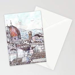 Florence at Dusk from Palazzo Magnani Feroni Stationery Cards