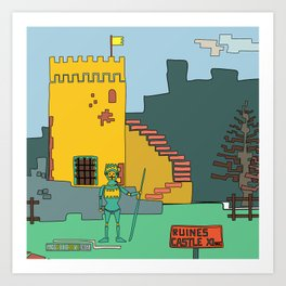 Afternoon at the Medieval Age (a) Art Print
