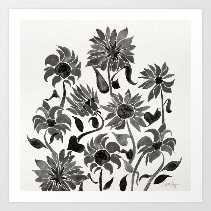 Sunflowers – Black Palette Kunstdrucke