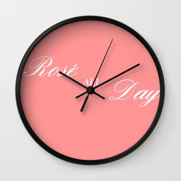 rose all day Wall Clock