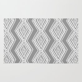 diamondback in gray Rug
