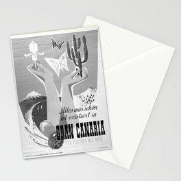 retro noir et blanc Gran Canaria Stationery Cards