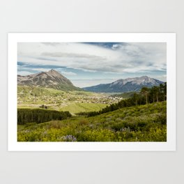 Mount Crested Butte and Town Art Print