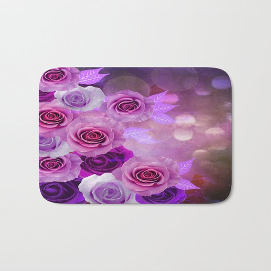 Rose Glow Abstract Bath Mat