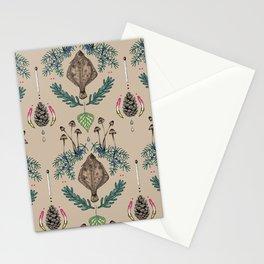flounder  fish vintage dream Stationery Cards