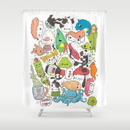 Sushi Bar: Point of Nori-turn Shower Curtain