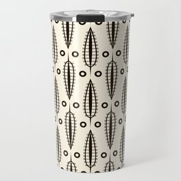 "Art Deco . ""Delicate leaves "". Travel Mug"