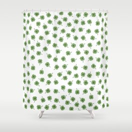 Light Green Clover Shower Curtain