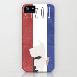 Zinedine Zidane, minimal portrait, Zizou, illustration, french football player, soccer, ballon d'or iPhone Case