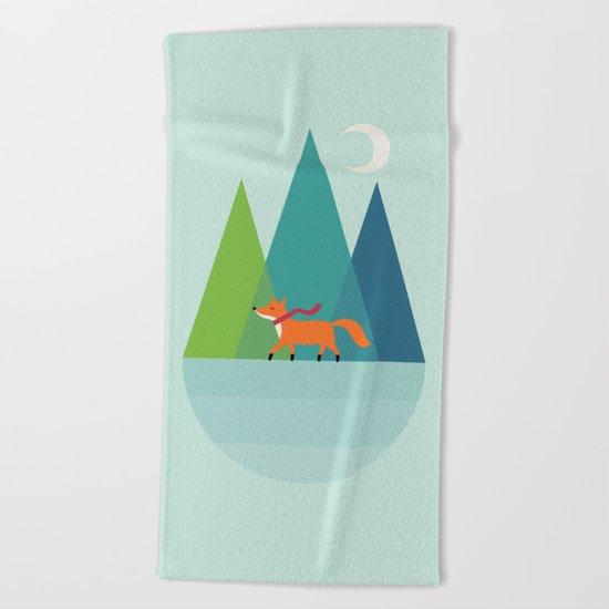 Winter Wish Beach Towel