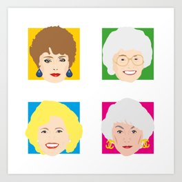 The Golden Girls, Betty White, Bea Arthur, Rue McClanahan, Estelle Getty Art Print