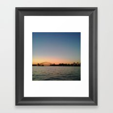 Sydney Harbour Pixels No.1 Framed Art Print