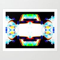 mercedes Art Prints featuring Artful Mercedes  by OneLaneDesigns