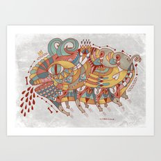Goat Pig Monster Art Print