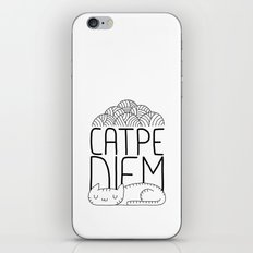 CATPE DIEM iPhone & iPod Skin