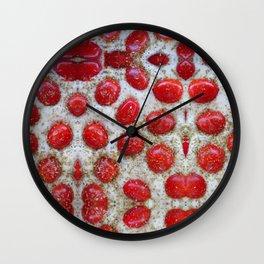 pane pomodori origano = pizza Wall Clock